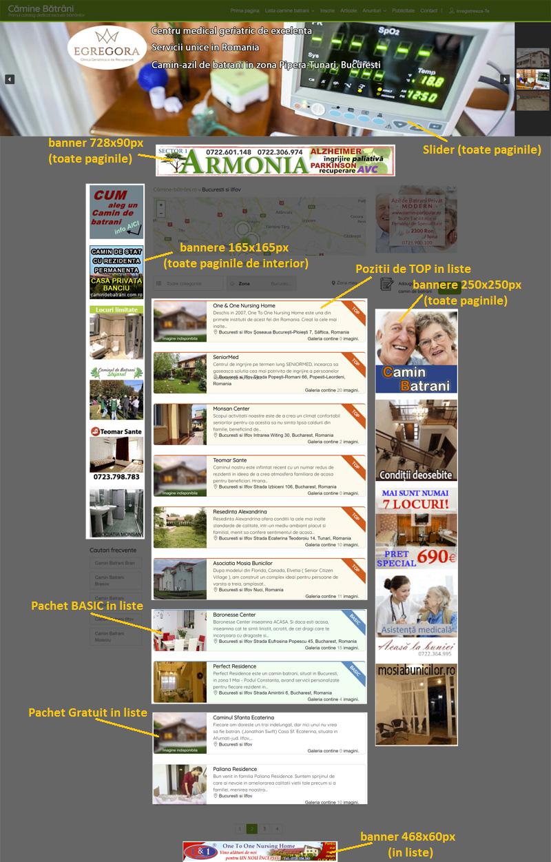 Promovare online camine de batrani - pagini interior